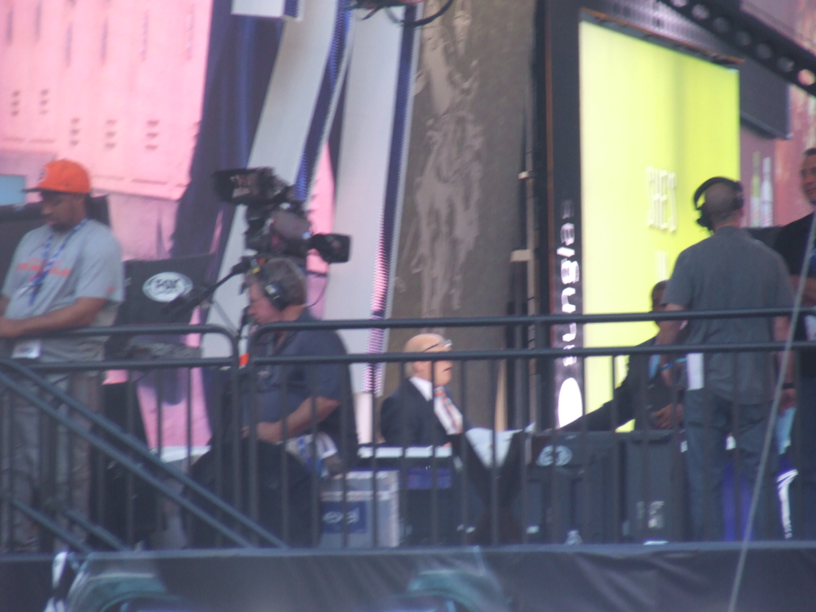 Nikko Nyc Pics Michael Strahan And Nfl Sports Invades Times Square
