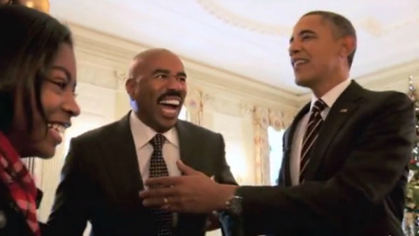 Spotted Steve Harvey President Obama Suprise White House Guests
