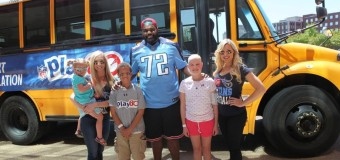 [Pics] Michael Oher Visits Patients at St. Jude Children's Research